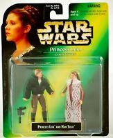Star Wars Power of The Force  Leia Collection Leia & Han Solo Action Figures