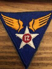 Ww2 Us 12th AAF Army Patch Military