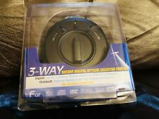 3-Way Rotary Digital Optical Selector Switch Toslink Audio Connector - Brand New