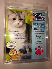 Soft Paws Brand Nail Caps for Cats Large 14lb+ Pink 40ct And Adhesive NIB