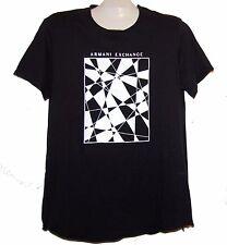 Armani Exchange Black white Logo Cotton Short Sleeve Men's T-Shirt Size XL NEW