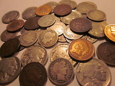 """""""""""Old U.S Coins Estate Lot."""""""" Barber Dime, Indian Head Cent, Buffalo Nickel"""""""