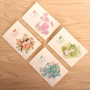 4pk Kitten Cats In Garden Flowers Mini Notebooks Small Notepads Pocket Memo Pads