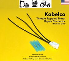 Kobelco Excavator Throttle Stepping Motor Stepper Connector Plug Pigtail 3 Wire