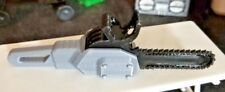 RC 1/10 Scale Black Silver Chainsaw Chain Saw Accessories Rock Crawlers Truck