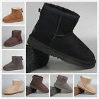 UGG Australia 5854 Classic Mini Women Winter Wool Boots Black Chestnut Sand