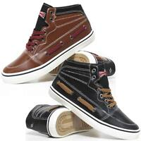 MENS LEE COOPER HI TOPS TRAINERS NEW BOYS HIGH ANKLE FLAT PUMPS BOOTS SHOES SIZE