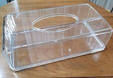 Vintage Clear Lucite Acrylic Tissue Box