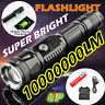 100000Lumen LED Phone Power Bank USB Rechargeable Flashlight for Camping&Hunting