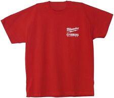 Milwaukee T-shirt Size M Red Mens Top Yamaha Racing Team Logo Design Medium