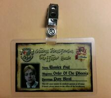 Harry Potter ID Badge - Gryffindor House Fred Weasley cosplay prop costume