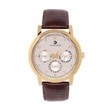 Ashton Carter Multi Function Gold / Brown Watch - AC-1007- 2 Year MANUF WRNTY