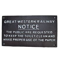 Station Master Sign Plaque Train Railway Wall Station Gate Fence Post Garage