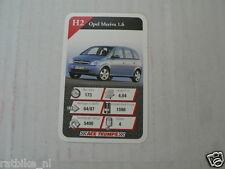 20 AUTOSALON H2 OPEL MERIVA 1.6 CAR KWARTET KAART, QUARTETT CARD