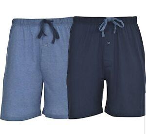 Hanes Men's 2-Pack Knit Short Blue Heather and Blue Depth Medium