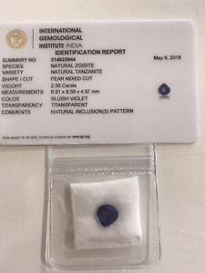 2.56ct IGI Certified Tanzanite