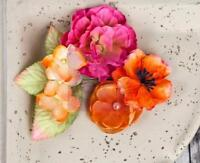 """Prima Marketing BRAND NEW From """"Joulee Tropics"""" Fabric Flowers & Leaves 567101"""