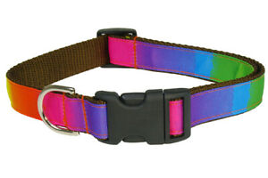Sassy Dog Wear Adjustable Rainbow Dog Collar