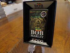BOB MARLEY IRON LION ZION BLACK MATTE ZIPPO LIGHTER MINT IN BOX