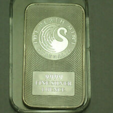 Perth Mint Australia BU .999 Fine Silver 1 Ozt Ingot Bar