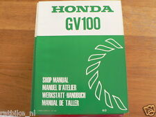 HONDA GV100  SHOP MANUAL FACTORY BOOK LAWNMOWERS 4-STROKE GAS POWERED K0