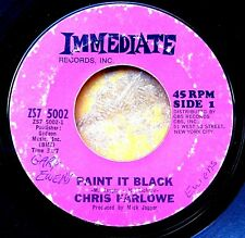 ROCK 45: CHRIS FARLOWE Paint It Black/You're So Good for Me IMMEDIATE ZS7 5002 V