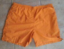 Nautica Orange mens swim trunks short shorts XL Nylon VTG Boxer Board net lined