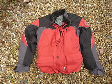 """Motorcycle jacket FRANK THOMAS aqua size S 38"""" red removable grey liner"""