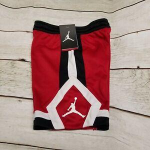 Nike Air Jordan Jumpman Basketball Shorts Red Black White Boys Size 4 855201-R78