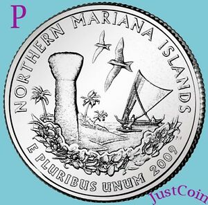 2009-P NORTHERN MARIANA ISLANDS QUARTER UNCIRCULATED FROM MINT U.S. TERRITORIES