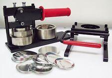 """2-1/4"""" Kit STD Tecre Button Maker Machine + Graphic Punch + 500 Button Parts"""