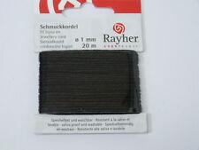 (m/0,1245€)  20m Schmuckkordel 1mm ver. Farben Schmuck Kordel