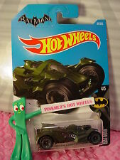 BATMAN:ARKHAM KNIGHT BATMOBILE #88✰Dark green✰✰2017 i Hot Wheels Case E