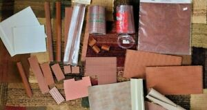 """Lot of 1/2"""" Scale Dollhouse Building Supplies - Brick Sheets & Corners Siding"""