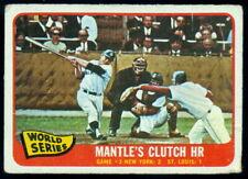 1965 TOPPS OPC O PEE CHEE BASEBALL #134 Mickey Mantle Clutch HR VG-EX NY Yankees