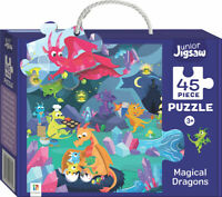 45 Piece Junior Jigsaw Puzzle: Magical Dragons Free Postage