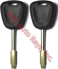 2(Pair) NEW For Jaguar 2000-2003 XJ 2000-2006 XK Uncut Transponder Chip Keys
