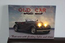 "LED Bild♥Bild mit Beleuchtung ""OLD CAR""♥Wandbild 30 x 40 cm♥Bild auf Keilrahmen"