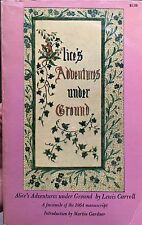 Alice's Adventures Under Ground by Lewis Carroll (1965, Paperback, Facsimile)