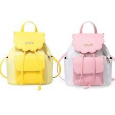Anime Card Captor Sakura Pink Yellow School Travel Laptop Shoulder Bag Backpack