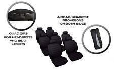 Negro Leatherlook 7 cubiertas de asiento de coche adecuado para Renault Grand Scenic