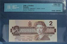 1986 - Canada - $ 2 - BC-55b  - Thiessen-Crow - CCCS UNC-64  Birthday 01/26/1977