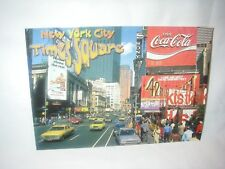 NEW YORK CITY TIMES SQUARE ALMA POSTCARD COCA COLA & SONY MAMA LEONE'S SIGNS