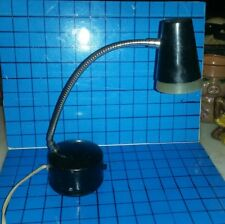 Vintage PENETRAY Desk Student Lamp Black w/ Weighted Base Retro WORKING Cond