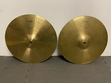 "Vintage Paiste 505 Green Label Hi Hat Cymbals 14""(Pair) Cymbal Drum / Accessory"