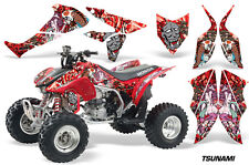 Honda TRX 450R AMR Racing Graphic Kit Wrap Quad Decal ATV 04-14 TSUNAMI RED