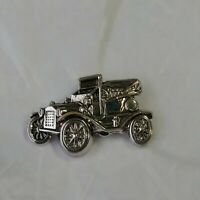 Jalopy Tie Tack Lapel Hat Jacket Pin 3 D Silver Color Metal