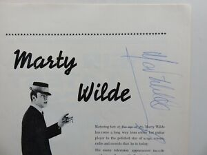BILLY FURY  PROGRAMME  THE MAMMOUTH STAR SHOW  1962  SIGNED BY MARTY WILDE