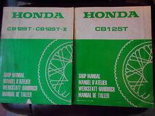 Officina Manuale 1978 + suppletivo 1982 HONDA CB 125 T SHOP MANUAL