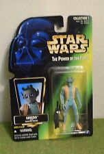 Star Wars cardada poder de la fuerza Verde tarjeta Greedo